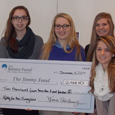 Students Present Check to Dana Farber Cancer Institute